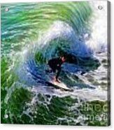 Surf 3 Off The Lip Acrylic Print