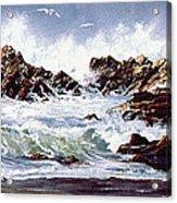 Surf At Lincoln City Acrylic Print