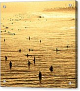 Surf Convention Acrylic Print by Ron Regalado