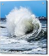 Surf Is Up At York Beach Acrylic Print