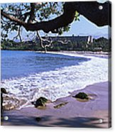 Surf On The Beach, Mauna Kea, Hawaii Acrylic Print