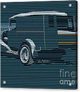 Surf Truck Ocean Blue Acrylic Print