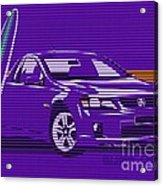 Surf Ute Purple Haze Acrylic Print