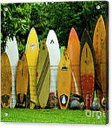 Surfboard Fence Maui Acrylic Print