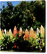 Surfboard Fence - Right Side Acrylic Print
