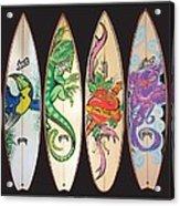 Surfboards Art Jungle Acrylic Print