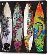Surfboards Art Jungle2 Acrylic Print
