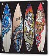 Surfboards Art Acrylic Print
