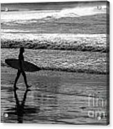 Surfer at Palm Beach Acrylic Print