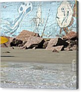 Surfer Beach 1034b Acrylic Print