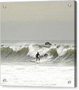 Surfer Beach 91st St Rockaway Queens Acrylic Print