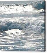 Surfer Acrylic Print by Bobbi Bennett