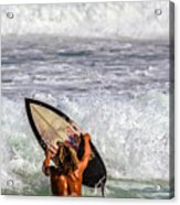 Surfer Catch The Wave Acrylic Print