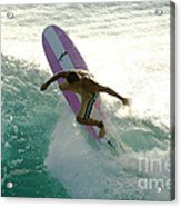 Surfer Cutting Back Acrylic Print