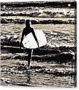Surfer Girl Acrylic Print by Scott Allison