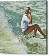 Surfer Hatteras Island 3 7/16 Acrylic Print