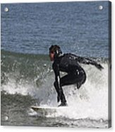 Surfer Hitting The Curl Acrylic Print