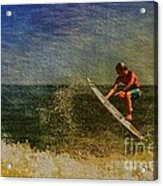 Surfer In Oil Acrylic Print