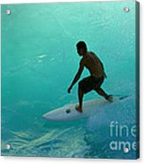 Surfer In The Zone Acrylic Print