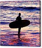 Surfer Silhouette Acrylic Print