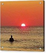 Surfer Sunrise 3 10/2 Acrylic Print