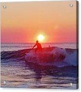 Surfer Sunrise 6 10/2 Acrylic Print