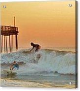 Surfer Sunrise 9 10/2 Acrylic Print