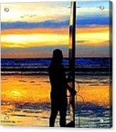Surfer Sunset Acrylic Print
