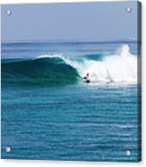 Surfer Surfing A Wave Acrylic Print