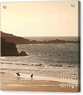 Surfers On Beach 03 Acrylic Print