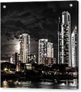 Surfers Paradise By Night Acrylic Print