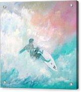 Surfin' Acrylic Print