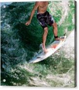 Surfin` Acrylic Print