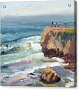 Surfing At Steamers Lane Santa Cruz Acrylic Print