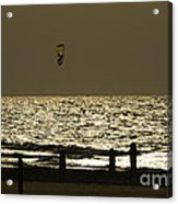 Surfing At Sunset Acrylic Print