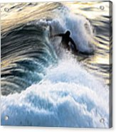 Surfing For Gold Acrylic Print