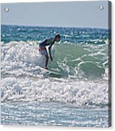 Surfing In California Acrylic Print