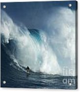 Surfing Jaws Surfing Giants Acrylic Print