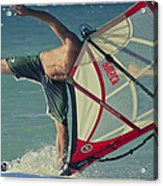 Surfing Kanaha Maui Hawaii Acrylic Print