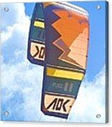 Surfing Kite Acrylic Print