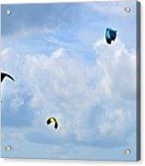 Surfing Kites Acrylic Print