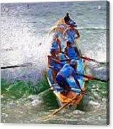 Surfing lifesaving boat Acrylic Print