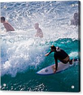 Surfing Maui Acrylic Print