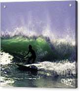 Surfing Pt. Judith Acrylic Print
