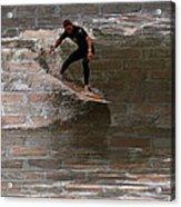 Surfing The Bricks Acrylic Print
