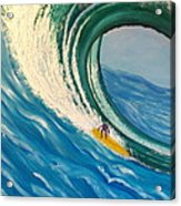 Surfing the Gigantic Wave  Acrylic Print