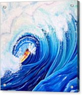 Surfing the Maverick Wave  Acrylic Print