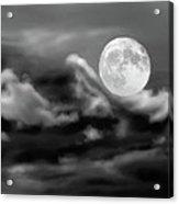 Surfing The Night  Acrylic Print