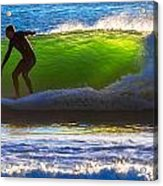 Surfing The Waves 2 Acrylic Print