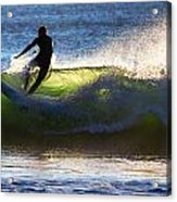Surfing The Waves Acrylic Print